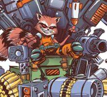 "Rocket Raccoon on the ""Iron Throne""! Sticker"