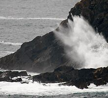 Rough day at Cape Cornwall  by SWEEPER