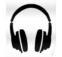 DJ' s Headphones Poster