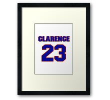 National football player Clarence Childs jersey 23 Framed Print