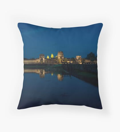 Night of Angkor Wat, Cambodia Throw Pillow