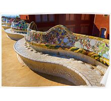 Gaudi's Park Guell Sinuous Curves - Impressions Of Barcelona Poster
