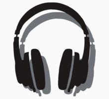 Headphones Shadow Baby Tee