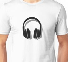 Headphones Shadow Unisex T-Shirt