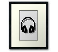 Headphones Shadow Framed Print