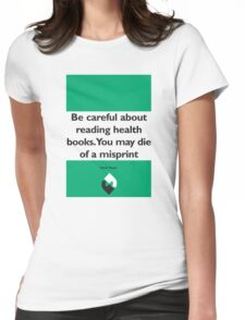 On Books - Mark Twain Womens Fitted T-Shirt