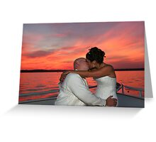 Colored Kisses Greeting Card