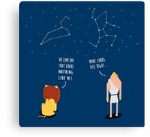 Awkward Constellations Canvas Print