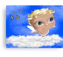 Blue Eyed Angel Canvas Print
