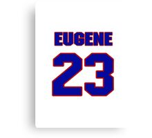 National football player Eugene Sykes jersey 23 Canvas Print