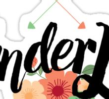 Wanderlust 02 lettering Sticker