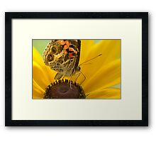 Lady on Yellow Framed Print