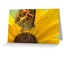 Lady on Yellow Greeting Card