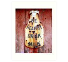 drink milk Art Print