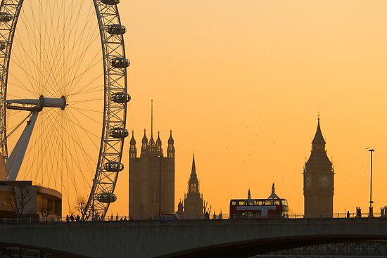 Big Ben and London Eye (Alan Copson © 2008) by Alan Copson