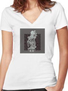 hieroglyphic 3 Women's Fitted V-Neck T-Shirt