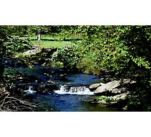 Waterfall in country creek. Photographic Print