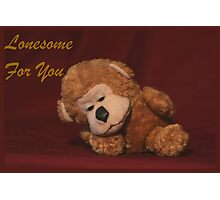 Lonesome For You Photographic Print