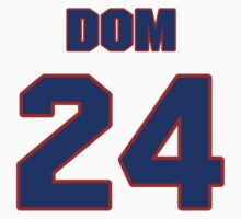 National football player Dom Moselle jersey 24 by imsport