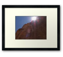No More Shade Framed Print