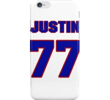 National football player Justin Hartwig jersey 77 iPhone Case/Skin
