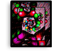 Psychedelic Glassbead Spiral Canvas Print