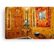 The Amber Room at Catherine Palace, Russia Canvas Print