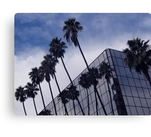 Palm Trees and Office Building Canvas Print