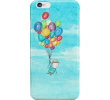 Up up and away on a balloon ride iPhone Case/Skin