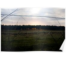 Barbed Wire Sunrise Poster