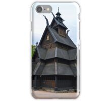 Norwegian Medieval Stave Church iPhone Case/Skin