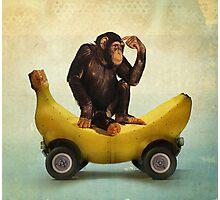 Chimp my Ride Photographic Print