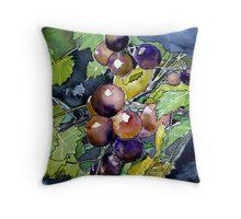 grape vine still life fruit Throw Pillow