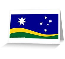 Southern Horizon flag (with URL) Greeting Card