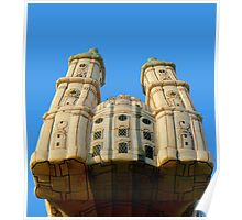 """HOT AIR BALLOON ''THE CATHEDRAL of SANCT GALLEN"""" Poster"""