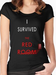 I Survived the Red Room - Mr Grey Women's Fitted Scoop T-Shirt