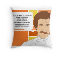 I'm Ron Burgundy? Throw Pillow