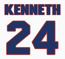 National football player Kenneth Acker jersey 24 by imsport