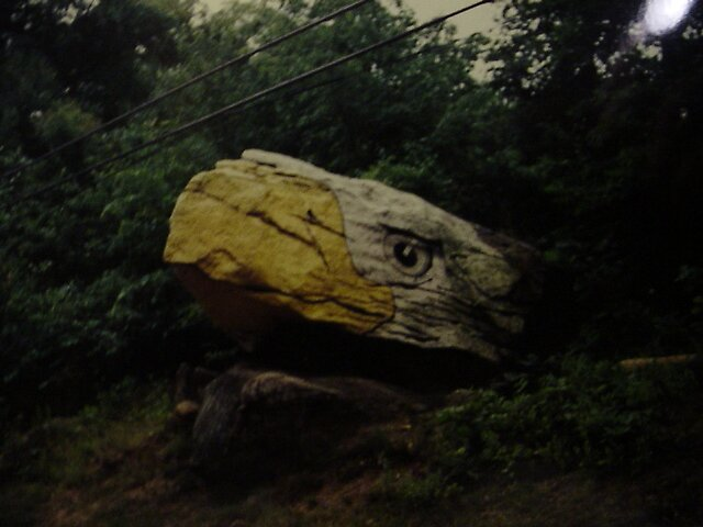 eagle rock on Rt 6 in CT near UConn by batjuby