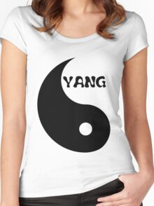 Classic Yang matches with Classic Yin Women's Fitted Scoop T-Shirt
