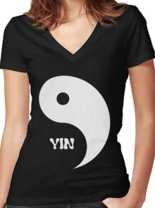 Classic Yin matches with Classic Yang Women's Fitted V-Neck T-Shirt
