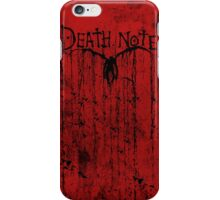 death note iPhone Case/Skin