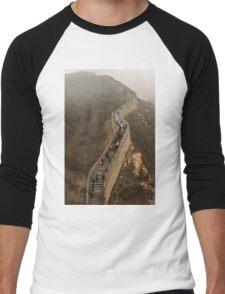 The Great Wall Of China At Badaling - 3 © Men's Baseball ¾ T-Shirt