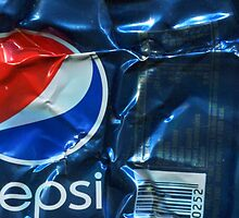 Pepsi Cola - Crushed Tin by Jovan Djordjevic