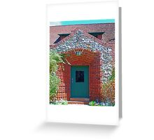 Cottage door, Sacramento bricks, mining_inlays Greeting Card