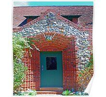 Cottage door, Sacramento bricks, mining_inlays Poster