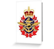 Canadian Military Coat of Arms Greeting Card
