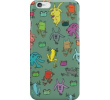 pattern with goats and frogs iPhone Case/Skin