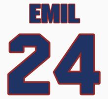 National football player Emil Sitko jersey 24 by imsport