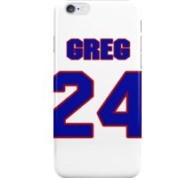 National football player Greg Blue jersey 24 iPhone Case/Skin